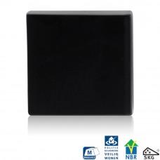 Gpf6812.60 zwart vierkante vh-buitenrozet skg*** blind