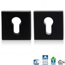 Gpf6815.60 zwart veiligheidsrozet 55x55x10mm skg*** vierkant