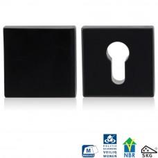 Gpf6816.60 zwart veiligheidsrozet 55x55x10mm skg*** vierkant buiten bl