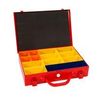Sysbox metaal 13 vaks 335x230x70mm 4tecx