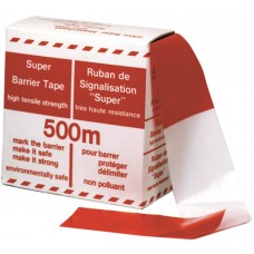 Afzetband rood/wit geblokt 100m
