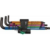 950 spkl/9 sm n zb multicolour stiftsleutelset 9-dlg, metrisch, blackl