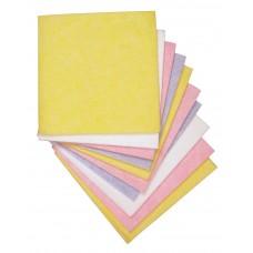 Huishouddoekje geel 38x40cm 10 st